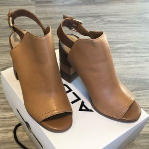 Aldo Cartiera Open-Toe Leather Mules Booties